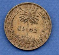 British West Africa   - 2 Shilling 1942 KN  -  Km# 24 -  état  TTB+ - Colonies