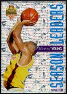 PANINI OFFICIAL BASKETBALL CARDS - MICHAEL YOUNG - LIMOGES - SEASON LEADERS - STICKER - Sport