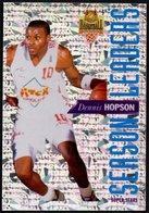 PANINI OFFICIAL BASKETBALL CARDS - DENNIS HOPSON - PITCH CHOLET - SEASON LEADERS - STICKER - Altri