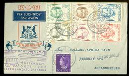 KLM * PROEFVLUCHT * LP * BRIEFOMSLAG Uit 1946 * GELOPEN VAN AMSTERDAM NAAR JOHANNESBURG ZUID AFRIKA (10.642a) - Period 1891-1948 (Wilhelmina)
