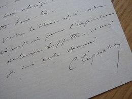 COQUELIN Dit Aîné (1841-1909) Acteur CYRANO De BERGERAC. Comédie Française. Théâtre. AUTOGRAPHE à Edouard Detaille - Autographes