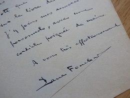Paul FOUCHER Fils (1849-1894) Romancier. Neveu Victor Hugo. AUTOGRAPHE - Autographes