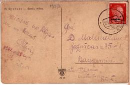 LATVIA LETTLAND Germany Occupation Mute Cancel PPC 1942 - Latvia