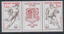 Andorra Fr. 1982 World Cup Football Strip 2v+label ** Mnh (40658B) - Frans-Andorra