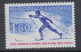 Andorra Fr. 1980 Olympic Wintergames 1v  ** Mnh (40658C) - Frans-Andorra