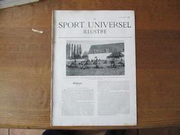 LE SPORT UNIVERSEL ILLUSTRE 22 JANVIER 1898 BELGIQUE  YPRES, EQUIPAGE RALLYE VALLIERE,HARAS DE MARTINVAST,FOOTBALL RUGBY - Books, Magazines, Comics