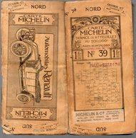 Carte MICHELIN N°39 (2)  à La Roue Ailée AGEN MONTAUBAN Entoilée (PPP9256) - Carte Stradali