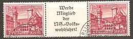 ZDR W 143 - Gestempelt - Se-Tenant