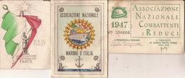 (T).Lotto Di 3 Tessere Militari (63-a18) - Documents
