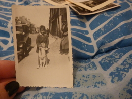 1 Photo Originale Voiture Automobile Enfant Chien Barfleur 1933 - Automobile