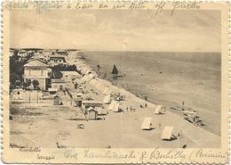 X4303 Rimini - Viserbella - Panorama Della Spiaggia - Beach Plage Strand Playa / Viaggiata 1947 - Rimini
