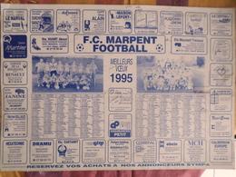 CALENDRIER  F.C. MARPENT FOOTBALL  (NORD) 1995 - Calendari
