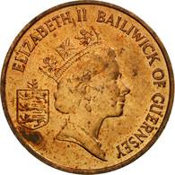 Monnaie, Guernsey, Elizabeth II, Penny, 1989, Heaton, TB+, Bronze, KM:40 - Guernesey