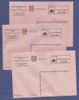 3 X ENVELOPE TAXA PAGA (Eça De Queiros - PORTO) Set Of 3 Stationery Covers PORTUGAL - Interi Postali