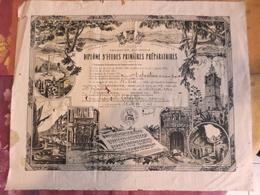 ETAT FRANCAIS  DIPLOME D'ETUDES PRIMAIRES PREPARATOIRES HABITANT DE DRAGUIGNAN (VAR)  1943 - Diplomi E Pagelle