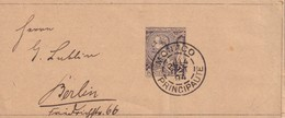 MONACO 1894 ENTIER POSTAL BANDE JOURNAL - Entiers Postaux