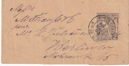MONACO 1893  ENTIER POSTAL BANDE JOURNAL - Entiers Postaux