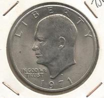 Monnaie , UNITED STATES OF AMERICA , One Dollar ,1971 , Argent , 2 Scans , Eisenhower, Frais Fr 2.25 E - Federal Issues