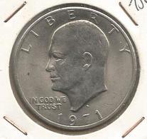 Monnaie , UNITED STATES OF AMERICA , One Dollar ,1971 , Argent , 2 Scans , Eisenhower, Frais Fr 2.25 E - Emissioni Federali