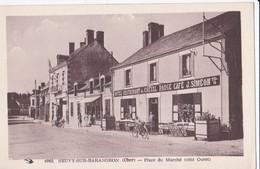 Carte 1930 NEUVY SUR BARANGEON / PLACE DU MARCHE (hôtel Restaurant Du Cheval Rouge J.Siméon) - Autres Communes
