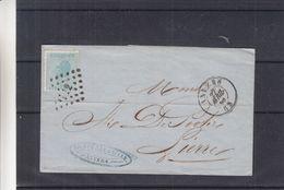 Belgique - Lettre De 1868 - Oblit Anvers - Exp Vers Lierre - - 1865-1866 Linksprofil