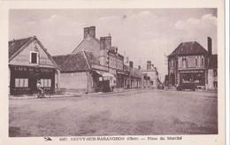 Carte 1930 NEUVY SUR BARANGEON / PLACE DU MARCHE (café De L'union,pharmacie) - Autres Communes