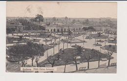 CARTOLINA POSTCARD 1910 ARGENTINA BUENOS AIRES , QUILMES PLAZA CARLOS PELLEGRINI ANIMATA VG PER COMO - Argentina