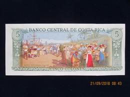 Costa-Rica,5 Colones Type Rafael Yglesisas Castro, 4 Octobre 1989, Série 4-D, Neuf, N'a Pas Circulé - Costa Rica
