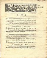 1791 REVOLUTION  LOI  RELATIVE AUX FINANCES PUBLIQUES  AUX CONTROLEURS DES BONS D ETAT ET AGENT DU TRESOR PUBLIC - Decrees & Laws