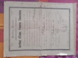 R. F . CERTIFICAT D'ETUDES PRIMAIRES ELEMENTAIRES HABITANT DE DRAGUIGNAN (VAR )  1930 - Diplomi E Pagelle