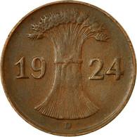 Monnaie, Allemagne, République De Weimar, Reichspfennig, 1924, Munich, TTB - [ 3] 1918-1933 : República De Weimar