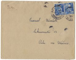 AI138   Lettre (cover) 886x2 Marianne De Gandon 1951 Pour Praha Tchécoslovaquie - 1945-54 Marianne De Gandon
