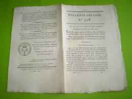 1822:loi Relative à La Police Sanitaire:peine De Mort,travaux Forcés... Prime Pêche à La Morue St Pierre Et Miquelo,Terr - Decrees & Laws