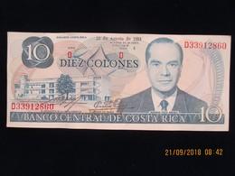 Costa Rica, 10 Colones, Type Rodrigo Facio Brenes, 28 Août 1984, Neuf, N'a Pas Circulé - Costa Rica
