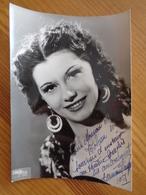 PHOTO AVEC DEDICACE DE GERMAINE ...... (  PHOTO STAR ) - Autographes