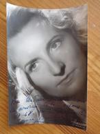 PHOTO AVEC DEDICACE DE LOUISE BRACHET (  STUDIO HARCOURT ) 1948 - Autographes