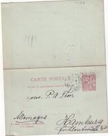 MONACO   1909  ENTIER POSTAL CARTE AVEC REPONSE - Entiers Postaux
