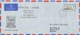 Falkland Islands 1970 Cover Final Departure From FI Of Ship Great Britain Ca 24 Apr 1970 (F7499) - Falklandeilanden