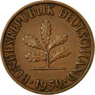 Monnaie, République Fédérale Allemande, 2 Pfennig, 1950, Hambourg, TTB - [ 7] 1949-… : FRG - Fed. Rep. Germany
