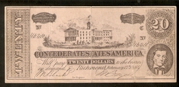 T. USA US Banknote Reproduction (without Watermarks) 20 Twenty DOLLARS 1864 No. 46410 Richmond - United States Of America