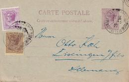 MONACO   1927  ENTIER POSTAL CARTE DE MONTE CARLO - Entiers Postaux