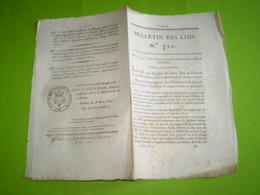 1822:loi Relative à La Police Des Journaux & écrits Périodiques. Legs Buat, Chaize Le Vicomte,Bolbec,Albenc,Aubenas... - Décrets & Lois