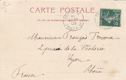 CARTE. 31 MARS 08. LIGNE N PAQ FR. N° 5. SOUVENIR DE L'ABYSSINIE. MARCHÉ AU CAFÉ - Marcophilie (Lettres)