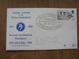 S012: FDC: Golden Jubilee Of The Police Federation. 1919-1969. 23/05/69 5d. Annual Conference, Blackpool. No. 331. - FDC