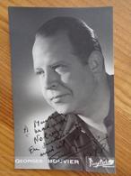 PHOTO AVEC DEDICACE DE GEORGES BOUVIER (  PUYTORAC ) - Autographes
