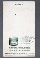 Lille (59 Nord) Buvard IODEX Liquide  (pharmacie) (lab Rissa) (PPP9259) - Chemist's