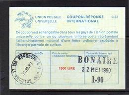 Coupon-réponse Bologna Via Morgagni > Cashed In BONAIRE Netherlands Antilles  (460) - 6. 1946-.. Republic