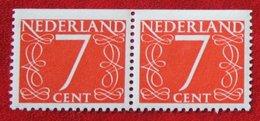Paar 7 Ct Combinatie Booklet Stamp NVPH 467 467G (Mi 614 Do) 1946 1964 POSTFRIS / MNH ** NEDERLAND / NIEDERLANDE - Booklets