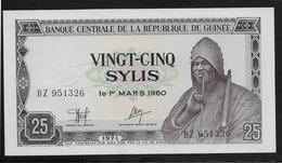 Guinée -  25 Sylis - Pick N°24 - NEUF - Guinea