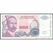 TWN - BOSNIA-HERZEGOVINA 154a - 100000 100.000 Dinara 1993 Prefix A UNC - Bosnia Erzegovina